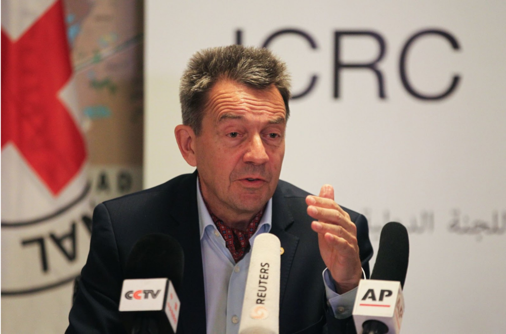 The president of the International Committee of the Red Cross, Peter Mauer. Photo:  AFP-JIJI