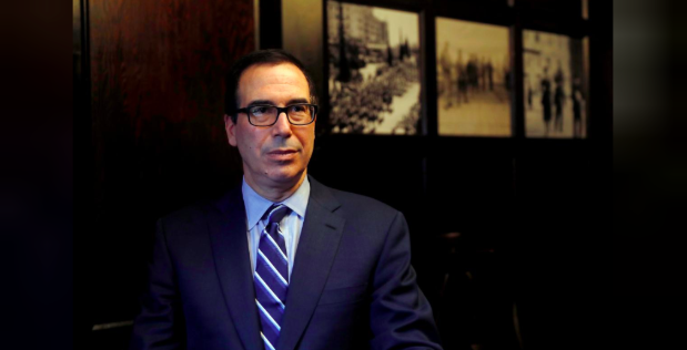 U.S. Treasury Secretary Steven Mnuchin speaks during his interview with Reuters in Jerusalem on October 21, 2018. REUTERS/Ronen Zvulun