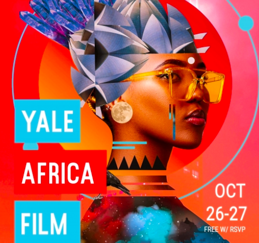 The inaugural Yale Africa Film Festival official poster. Photo: The MacMillan Center - Yale University.