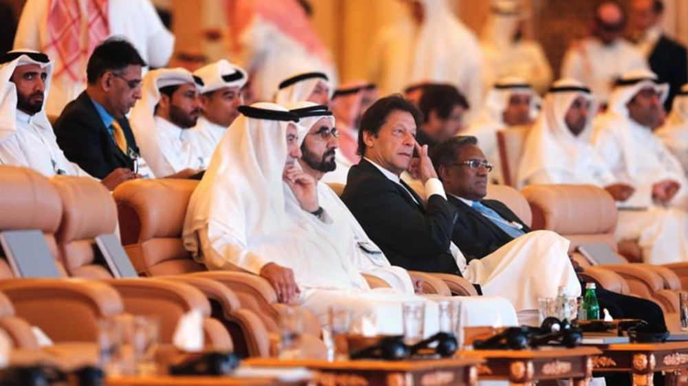 Prime Minister Imran Khan at the Future Investment Initiate in Riyadh, Saudi Arabia on October 23.  Photo: Amr Nabil/Associated Press