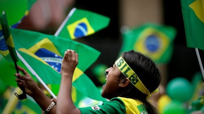 Bolsonaro has appealed to a broad group of Brazilian voters by promising to crackdown on violence and bring order and stability. Photo:  EPA via BBC .