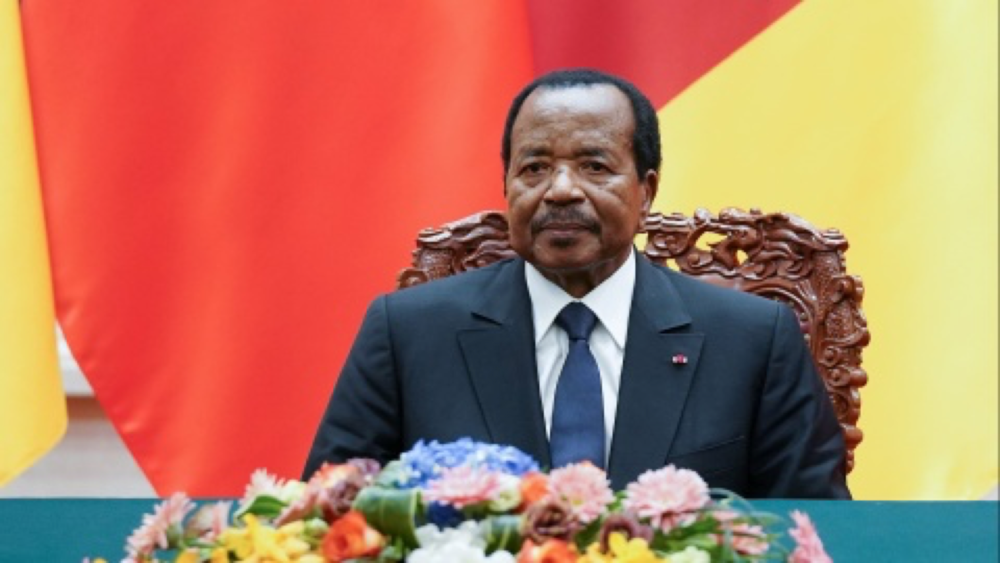 Cameroon's President, Paul Biya, attending a ceremony in Beijing, China on March 22, 2018. Photo: Lintao Zhang/ Pool via Reuters.