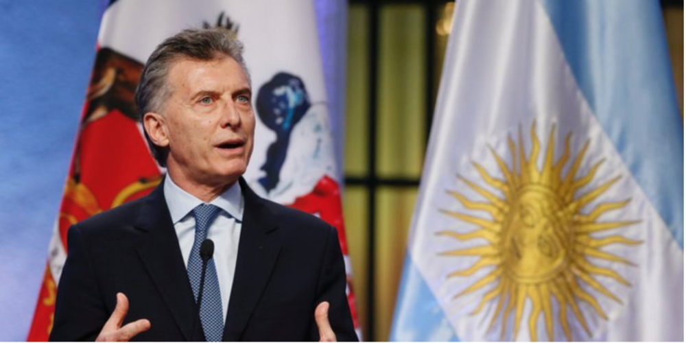 President Mauricio Macri  Photo:  Standard Media