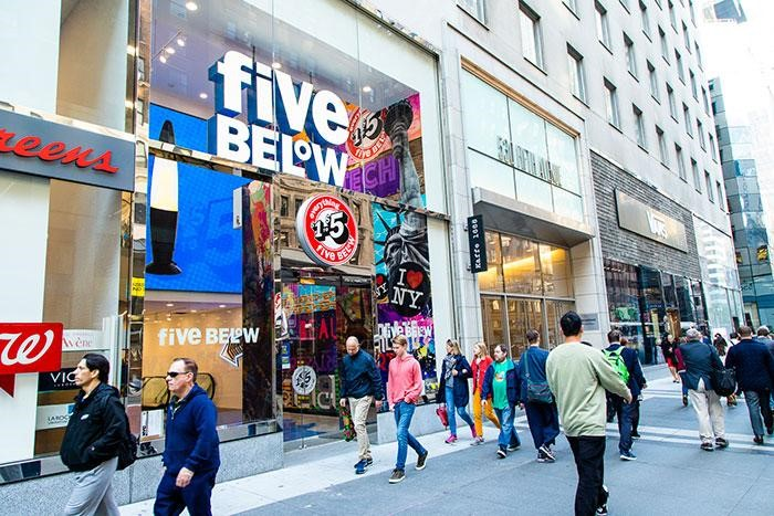 Five Below opens its first New York City store in Manhattan. Photo:  Marianne Wilson - Chain Store Age .
