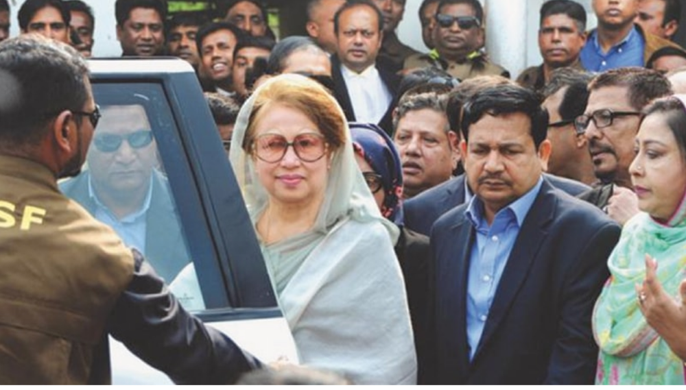 Former Prime Minister Khaleda Zia's prison sentence extended from five to ten years on corruption charges.  Photo:  The Daily Star
