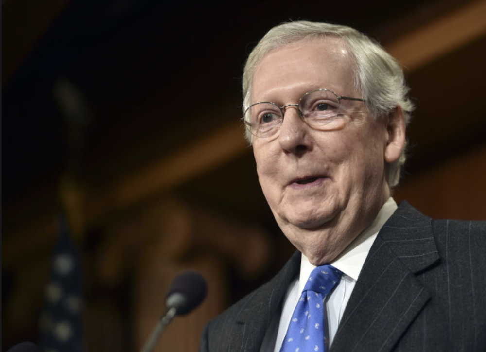 Senate Majority Leader Mitch McConnell optimistic moving forward. Credit: Eric Tucker/ AP