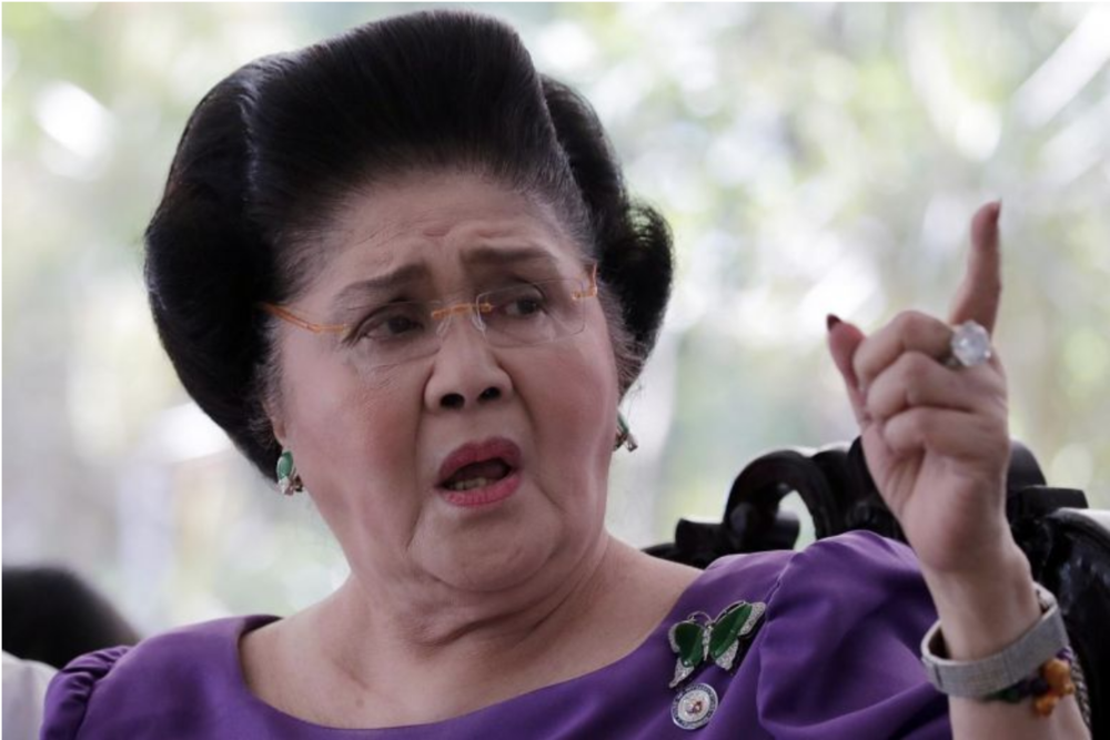 Former First Lady Imelda Marcos faces six to eleven years of imprisonment for each count of graft. Source: EPA-EFE /  The Straits Times