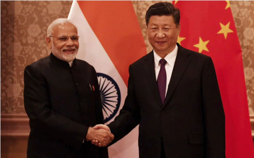 President Xi Jinping and Prime Minister Narendra Modi recently met at the Wuhan Summit on November 16.  Photo:  NDTV .
