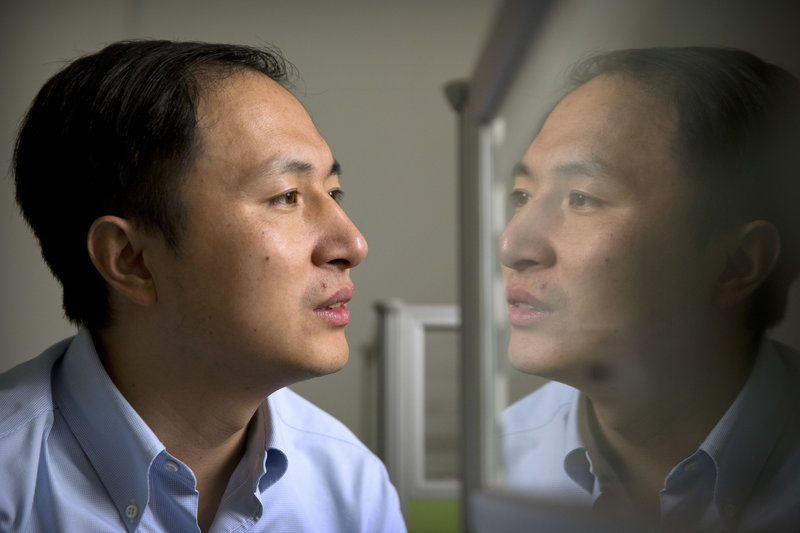Genetics researcher He Jiankui leads the team that is using CRISPR to edit embryonic DNA. He claims his lab considered the ethical issues before proceeding with the research. Photo Credit: Mark Schiefelbein/AP