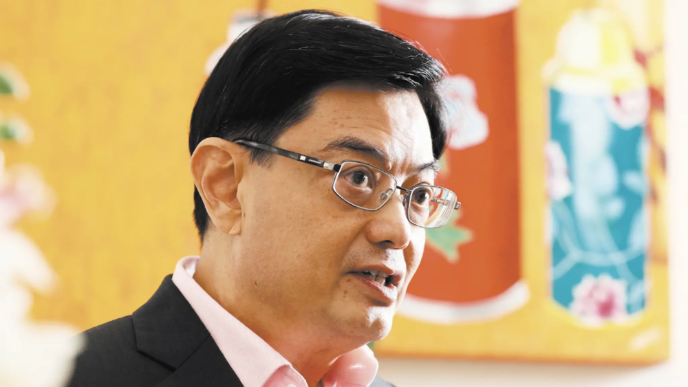 Heng Swee Keat, Finance Minister of Singapore. Source: Shinya Sawai /  Nikkei Asian Review .