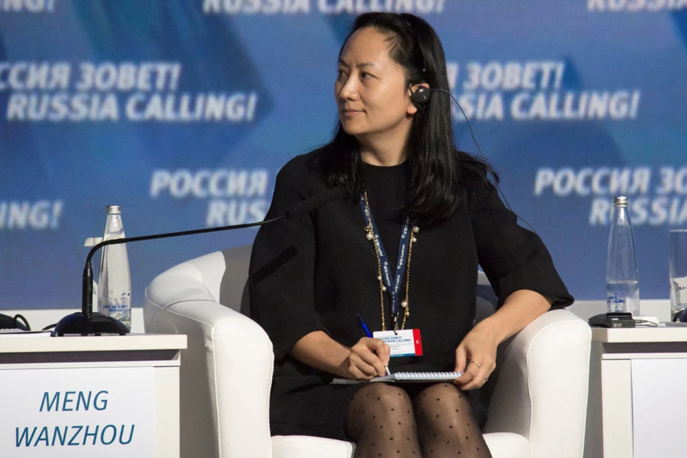 "Meng Wanzhou, Huawei's Chief Financial Officer and daughter of company founder Ren Zhengfei, attends an investment forum ""Russia Calling!"" in 2014. Credit:  Alexander Bibik/Reuters"