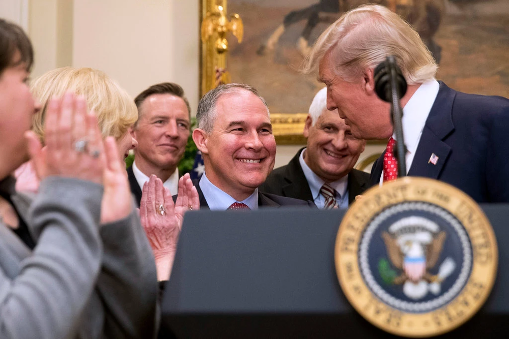 President Trump with former EPA Secretary Scott Pruitt  Photo:  Andrew Harnik/Associated Press