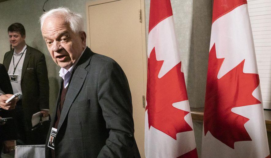 Canadian Ambassador to China John McCallum  Photo:  Paul Chiasson/Canadian Press via AP