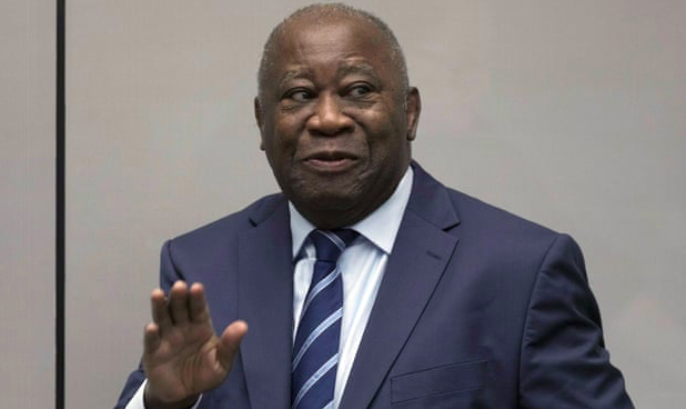 Former President of Ivory Coast Laurent Gbagbo. Photo: Peter Dejong/ Pool via The Guardian .