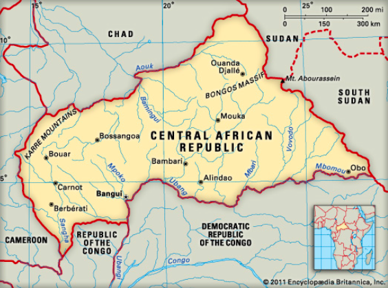 Central African Republic is one of the poorest countries in the world despite being rich in diamonds, gold, and uranium. Photo:  The Punch