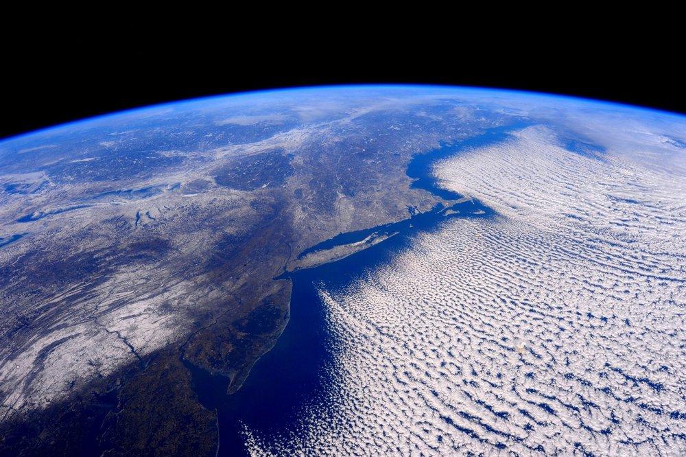 The polar vortex as seen from the International Space Station in February 2016. Photo: Scott Kelly/ NASA Johnson .