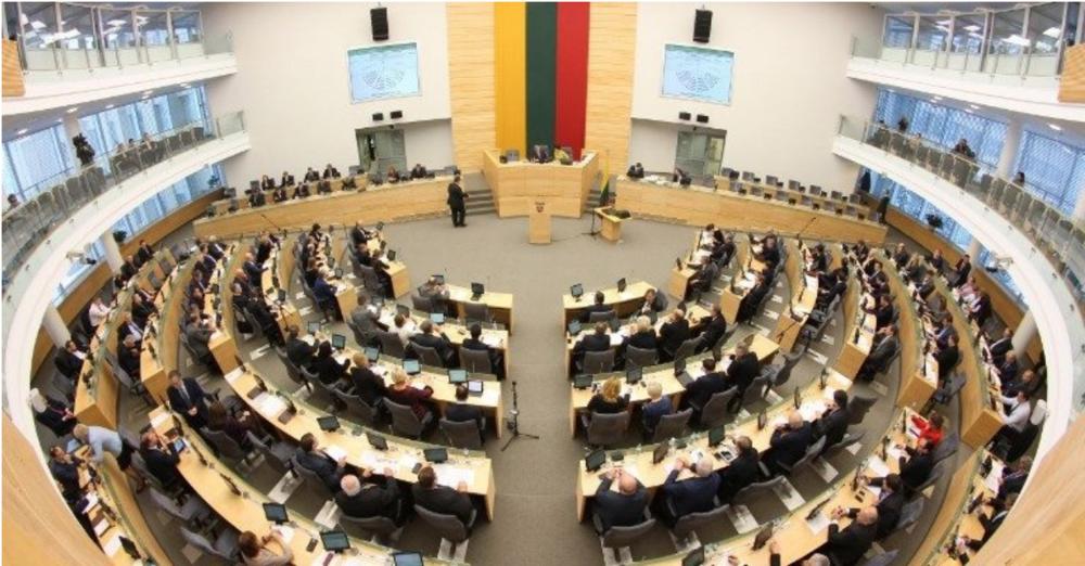 File photo of the Seimas, Lithuania's unicameral parliament. Photo:  Petras Malukas/AFP