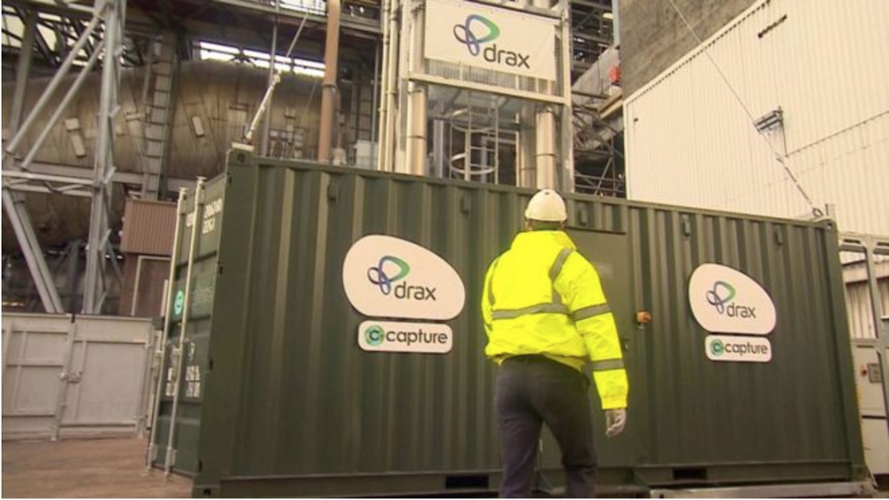 Inside the Drax Power Plant in North Yorkshire, a look at the carbon capture equipment. Photo:  BBC