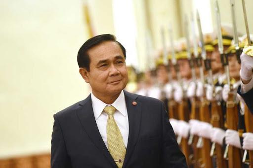 Thai Prime Minister Prayuth Chan-Ocha walks past an honor guard in Beijing last year. (Photo:  AFP )