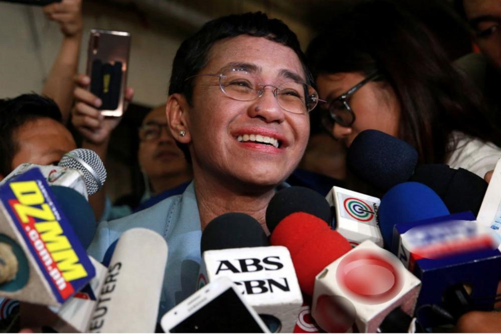 Maria Ressa, the CEO of Philippine online news platform Rappler. Source: Eloisa Lopez /  ABS-CBN News