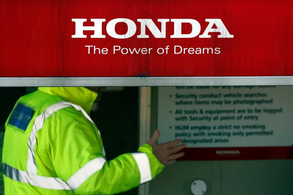 Entrance to Honda's Swindon factory. (Photo:  Frank Augstein - AP )