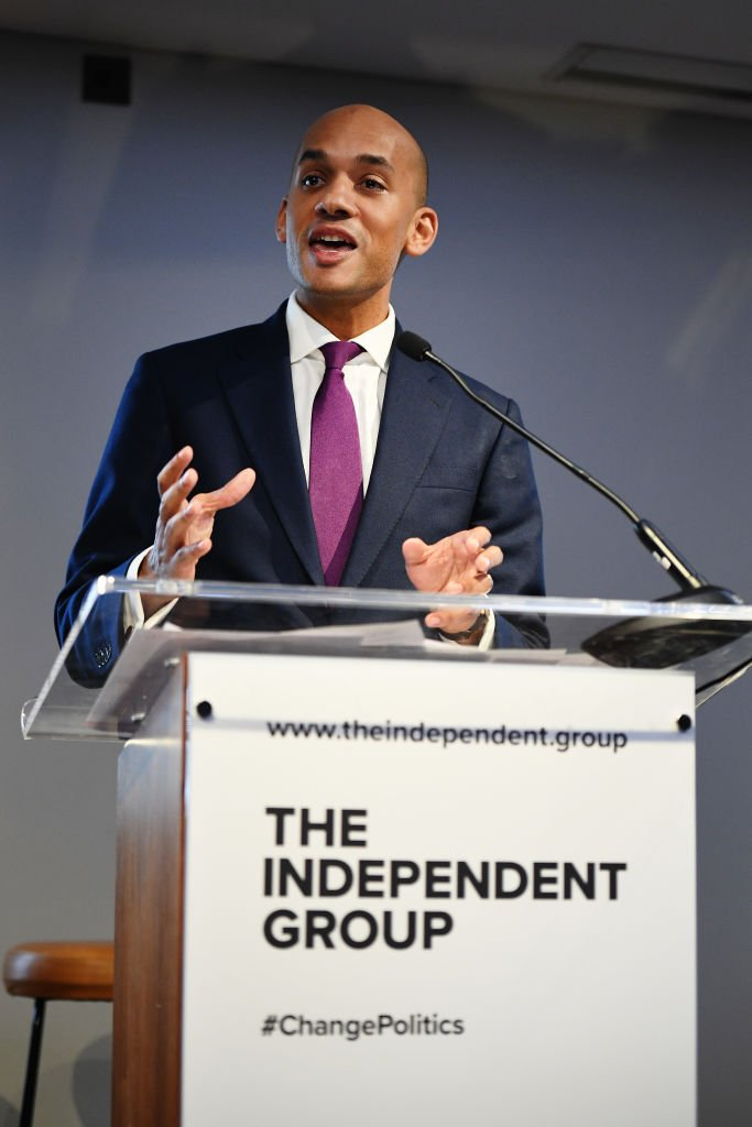 Chuka Umunna, former Labour MP since 2010, explaining his resignation at a press conference Monda alongside the other six members of the Independent Group. Photo:  NewStatesman