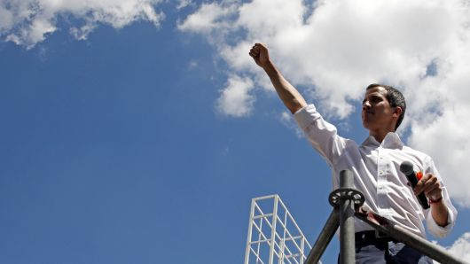 Juan Guaidó, the legitimate president of Venezuela, as recognized by Brazil, the United States, and the European Union, among others. Photo:  Marco Bello/Reuters