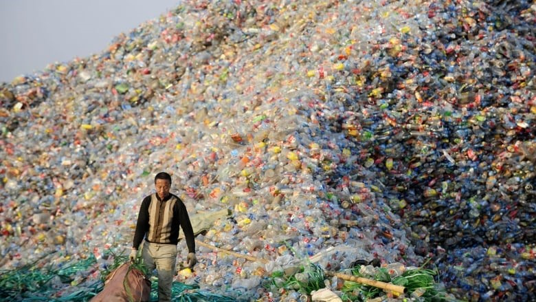 With increasing import bans from China, the world faces a recycling crisis. Photo:  CBC News .