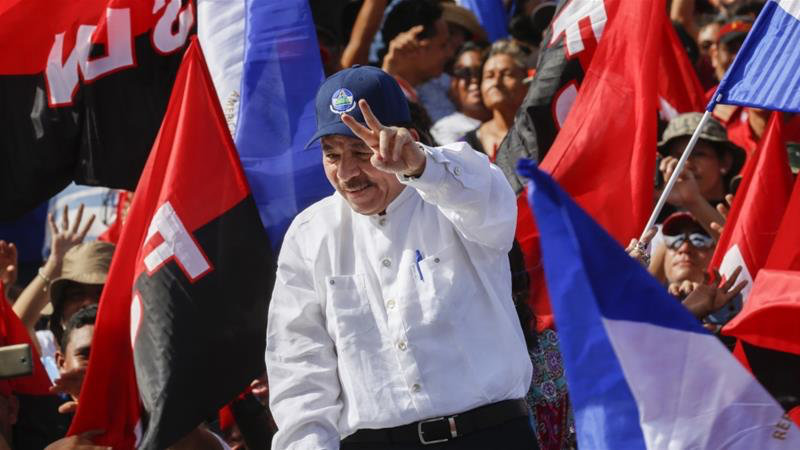 President Daniel Ortega commemorates the 39th anniversary of the Sandinista Revolution, which brought him to power, in Managua last July. Photo: Anadolu via Al Jazeera.