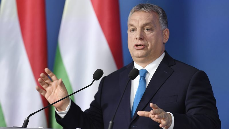 Prime Minister of Hungary Viktor Orban speaks during an international press conference at the Cabinet Office of the Prime Minister in Budapest, Hungary on Jan. 10, 2019. Photo:  Szilard Koszicsak/EPA/EFE