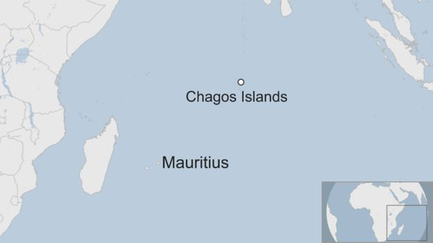 Map of the Indian Ocean, with focus on Mauritius and the Chagos Islands. Photo:  BBC