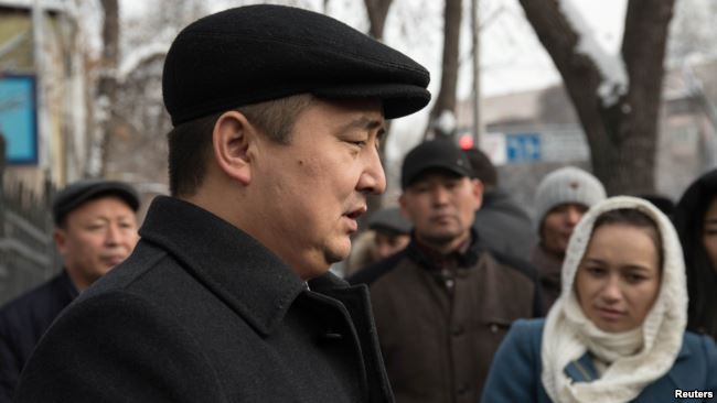 """Serikzhan Bilah, a rights activist against detention camps for Kazakhs and Uighurs in China, was found guilty of leading an """"unregistered organization"""" last month by a Kazakh court. Photo:  Reuters"""