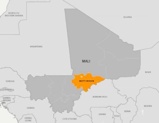 The attack occurred in Ogossagou in the Mopti region in central Mali. Photo:  HRW .