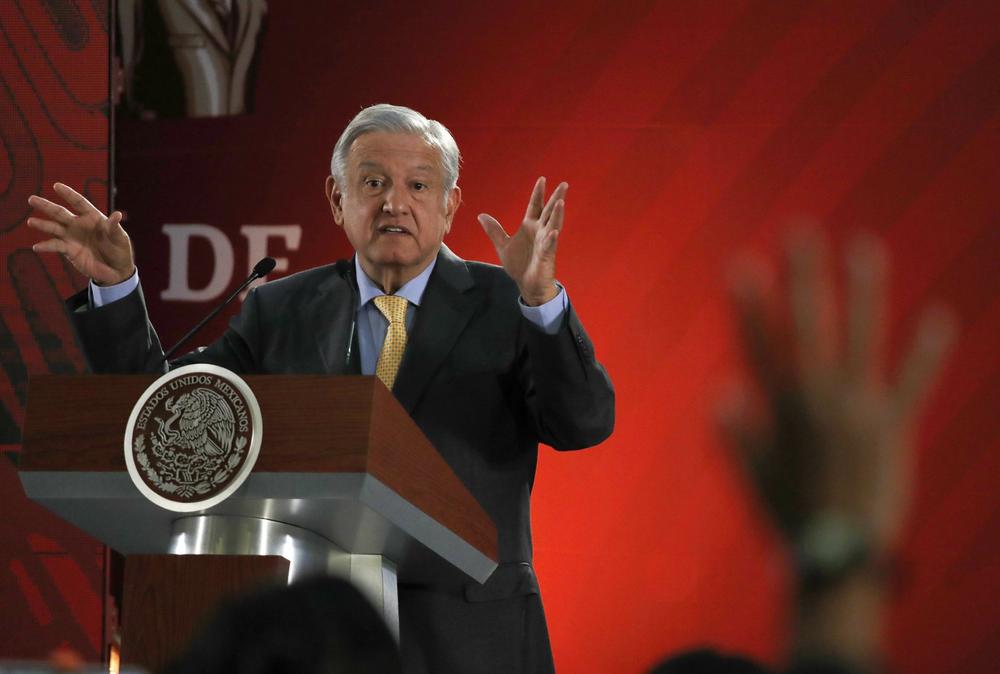 Mexican President López Obrador at a news conference on Thursday in Mexico City. Photo:  AP Photo /Marco Ugarte, File.