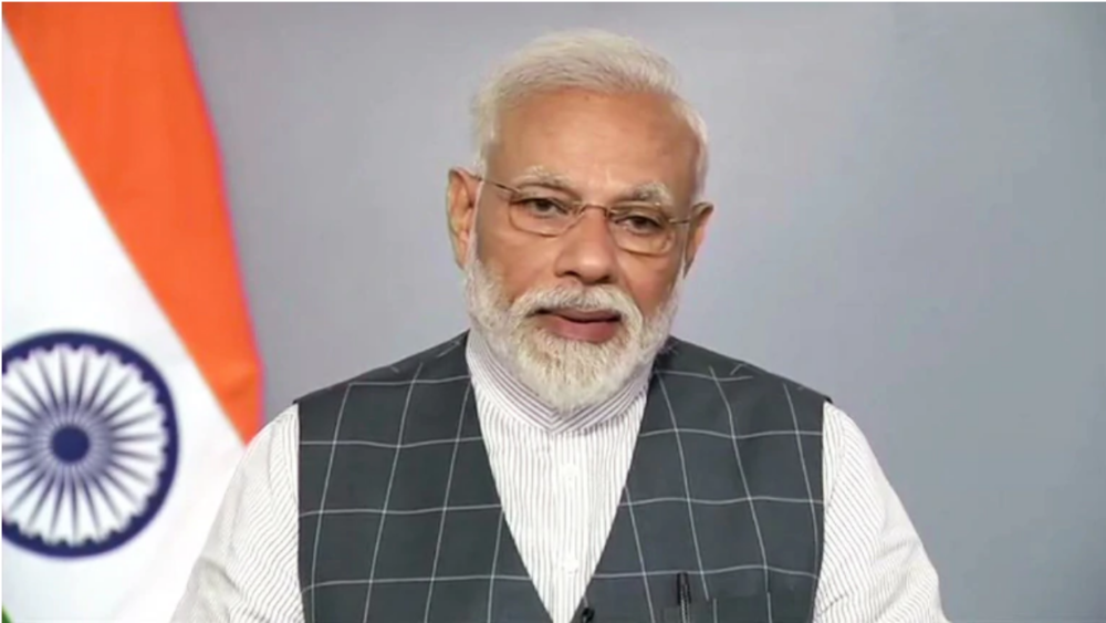 Indian Prime Minister Narendra Modi addresses the ASAT Missile test in a surprise televised address at noon on Wednesday, 27 March after the successful completion of the test. Photo:  IT