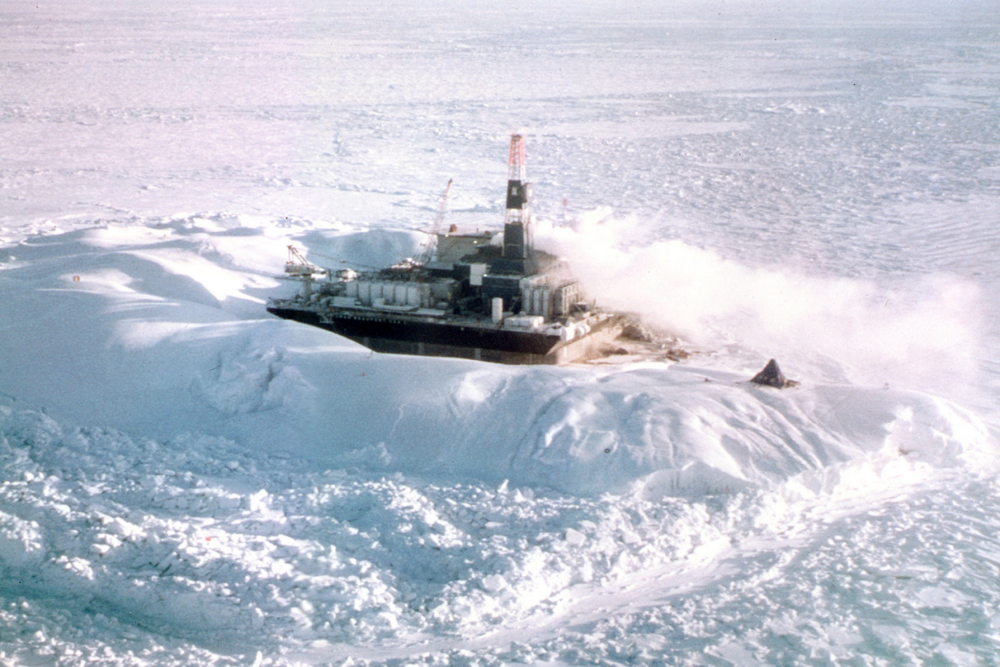 A Russian drilling rig in the Arctic Ocean. Photo:  Energy CG