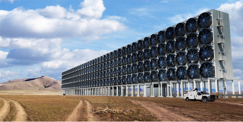 A rendering of Carbon Engineering's proposed carbon capture plant. Photo:  Carbon Engineering