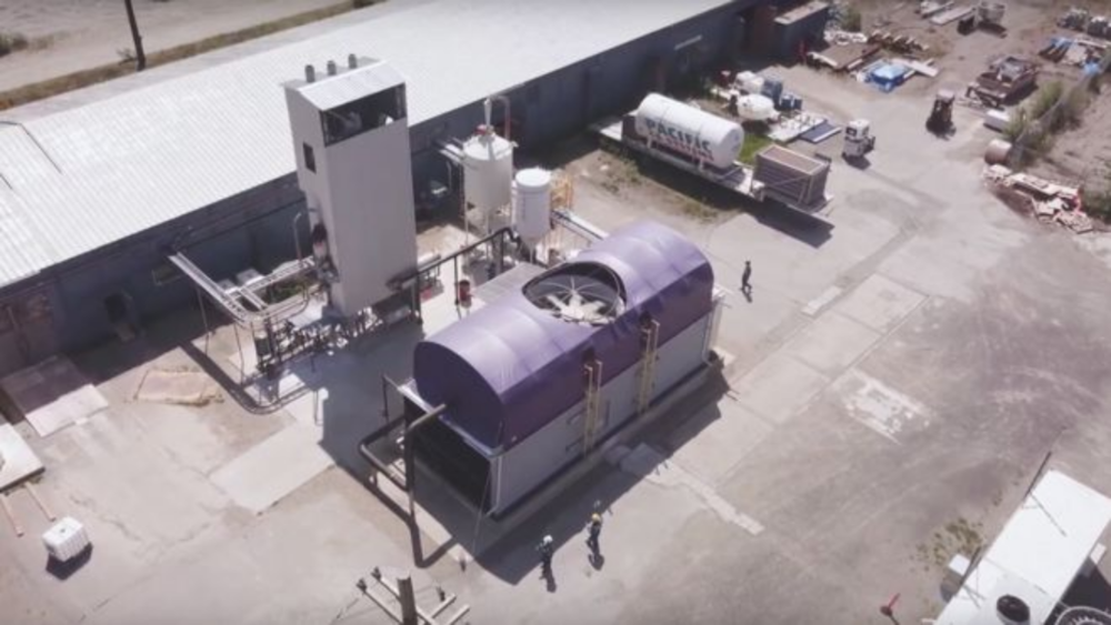 Carbon Engineering's current pilot plant, in Squamish, Canada. Photo:  Carbon Engineering