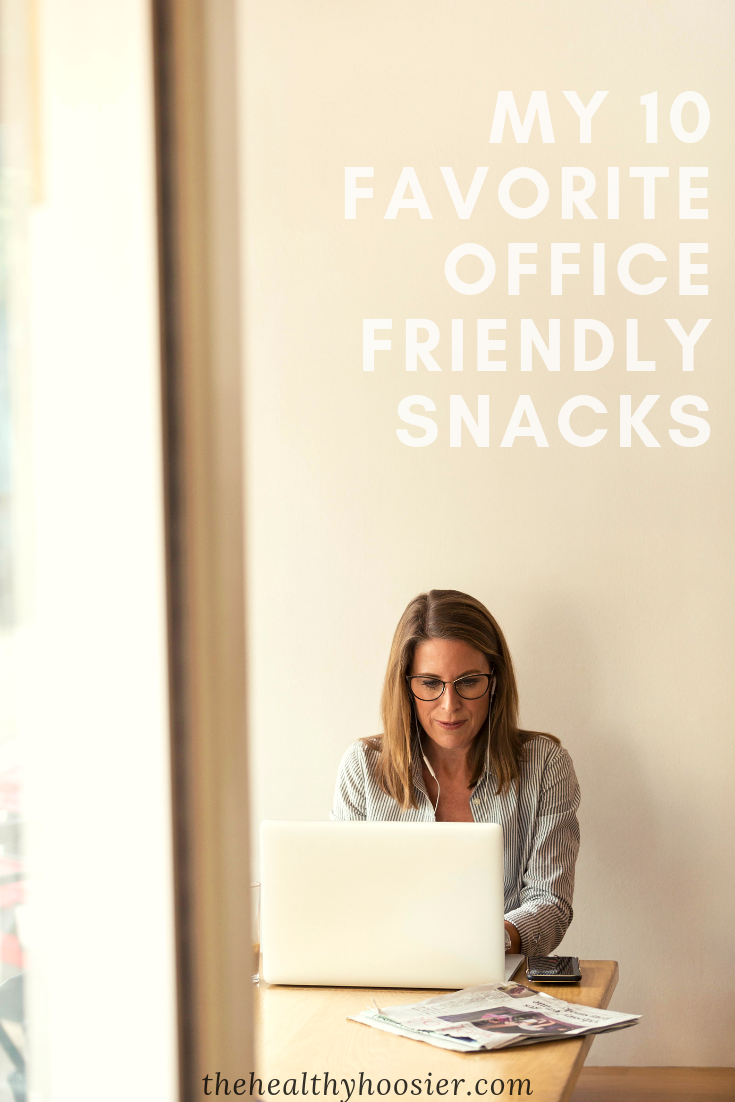 Take the guess work out of snacking and prep a few of these office-friendly snacks for your upcoming work week.
