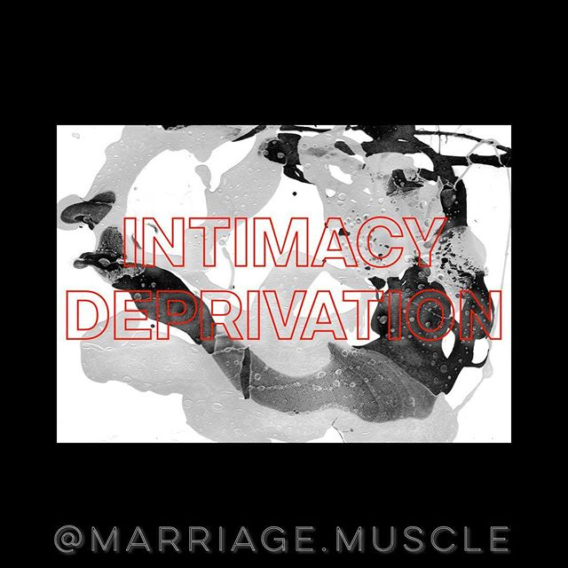 Let's talk about a real issue in marriage today. • INTIMACY DEPRIVATION • Do NOT deprive your spouse of intimacy. When you got married there was a commitment and covenant established that thrives off intimacy. When one is deprived of a necessity to sustain health it has to be sourced somewhere. It could be a video game, a Netflix show, food, shopping, friends or worse. Another person. Intimacy doesn't always mean sex. Intimacy is simply connection. Never stop connecting with one another. Here are just a few tips. 1. Real FaceTime. Eyeball to eyeball conversations. 2. Distraction free zone. No devices. No kids. No plan. 3. Share thoughts, ideas and dreams. 4. Cuddle. This always leads to more. 😉 5. Kiss daily. #marriagemuscle