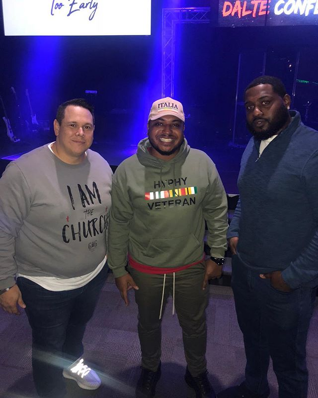 A little late post but these are some solid homies! My man @insta_zay loves the next generation and is super talented. Get ready for his album to drop. It's gonna be 🔥🔥. @godzsoldier54 just loves people, loves connecting and is a soldier for God all day everyday! Grateful for these connections in ministry and in life! Always encouraged when I get around these fellas. #dalte2019