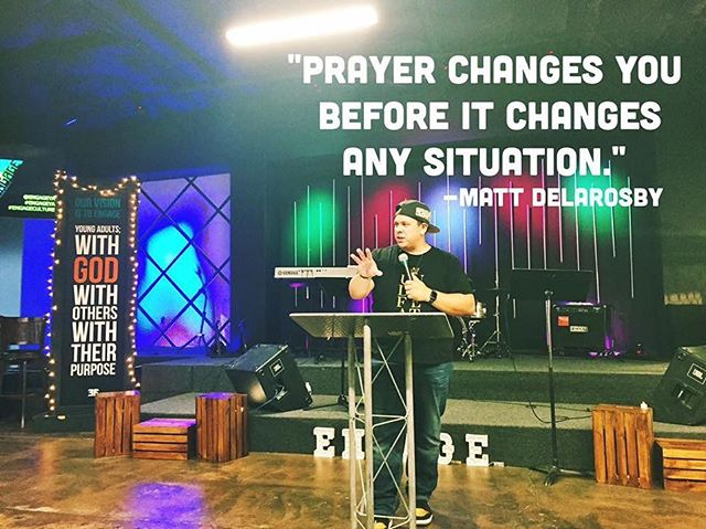Something I said a while back preaching to young adults is now preaching to me. #prayer