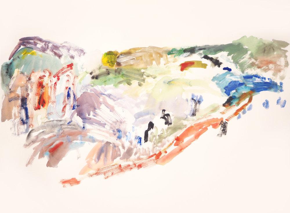 Mparntwe II , 2017 Acrylic on paper 56 x 76 cm