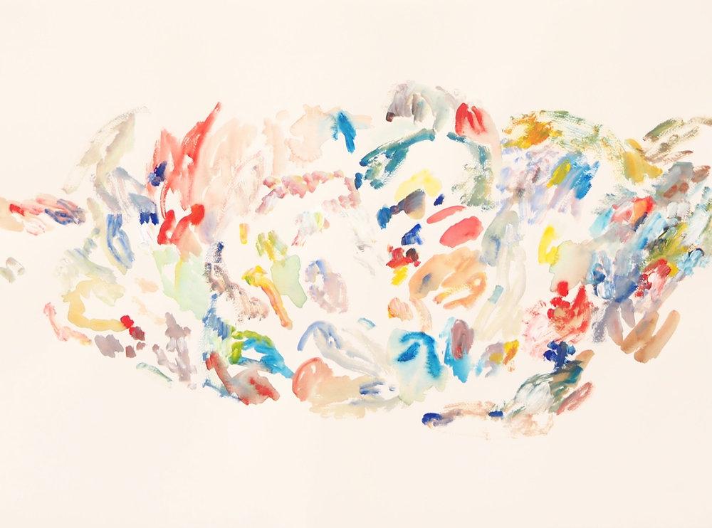 Mparntwe VII , 2017 Acrylic on paper 56 x 76 cm