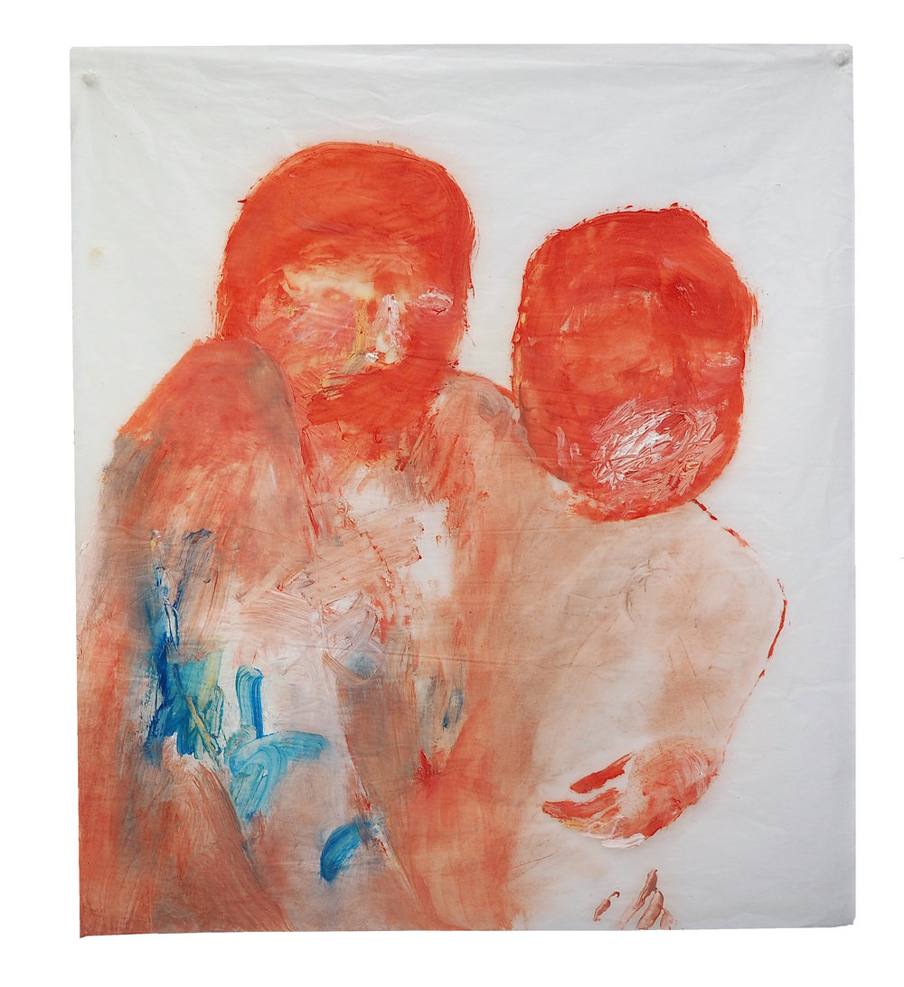 I'll carry you , 2015 Oil on gampi silk paper