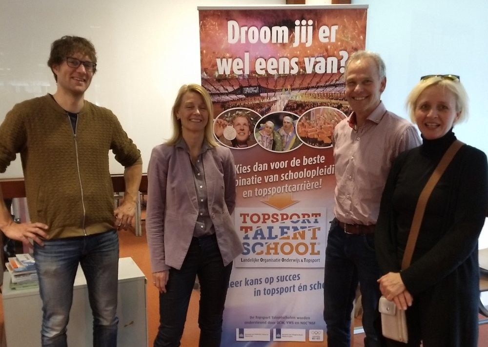 v.l.n.r.: Alex de Lange, Anke van Baar, Gert de Boert en Aagg Toering (ondersteuningscoördinator, niet aanwezig bij het interview).