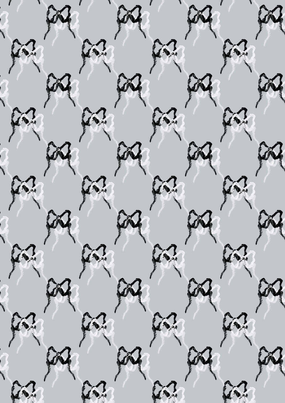 Dancing Bows - Grey