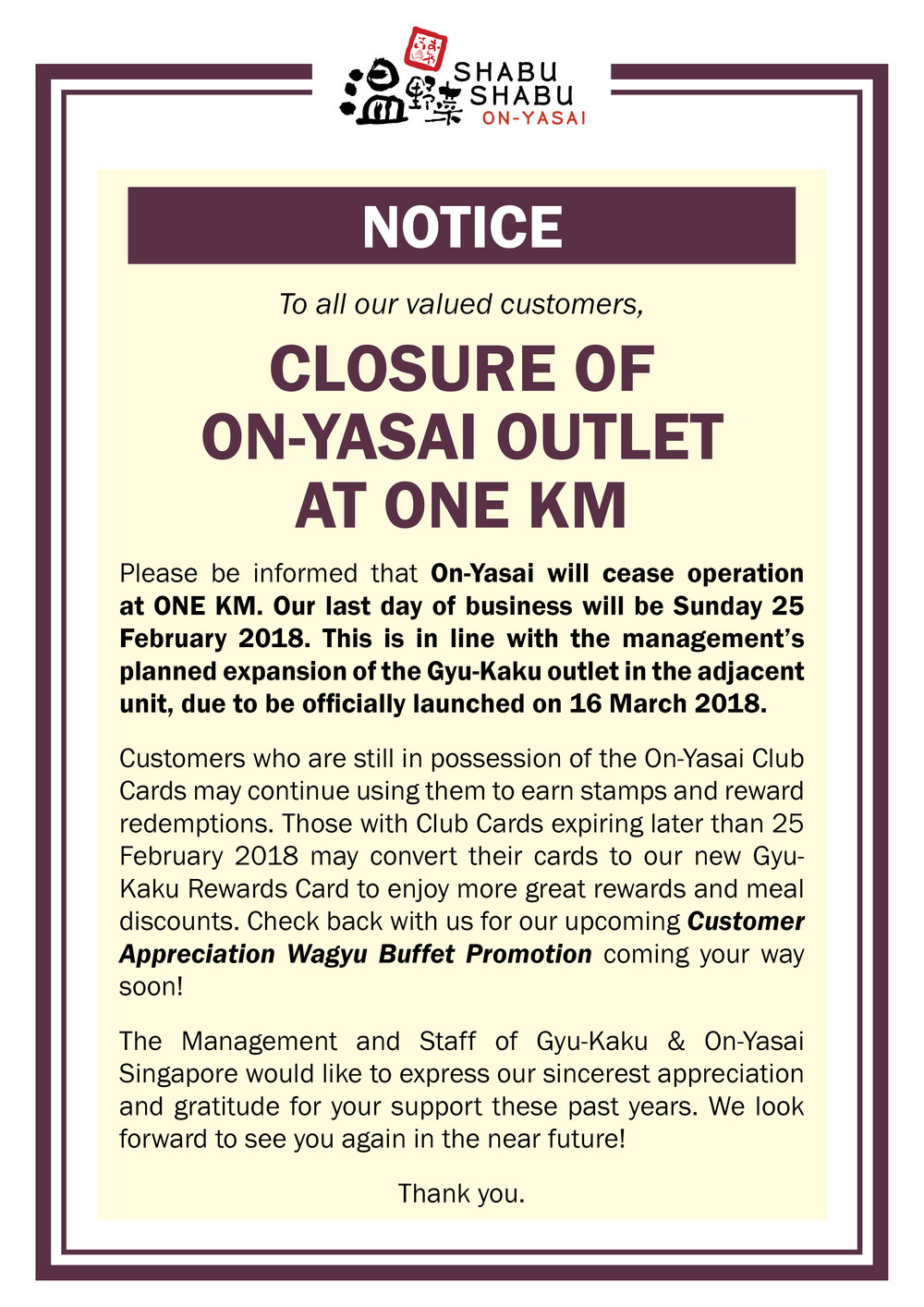 Notice - Closure of On-Yasai .jpg