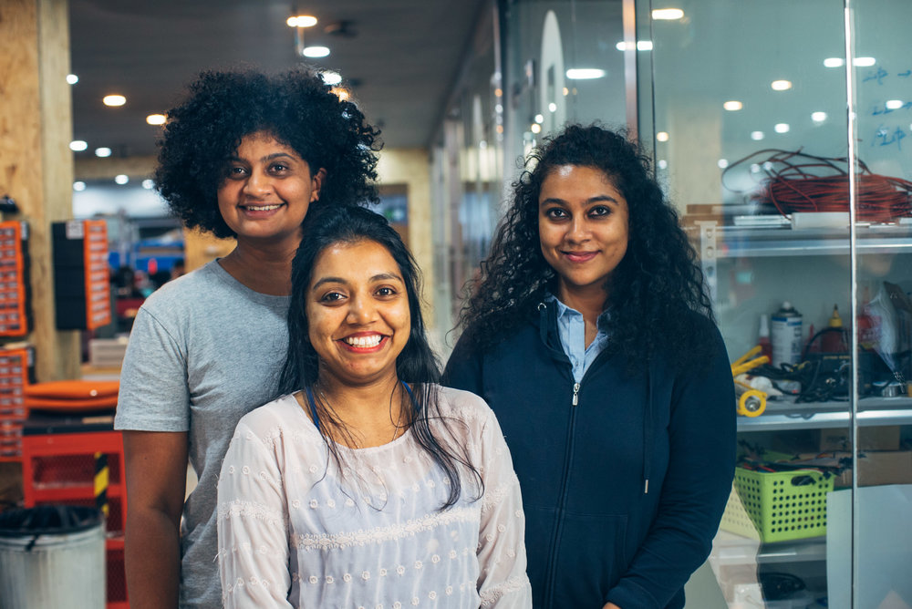 Team Raybaby - Raybaby was created by 3 engineers (ex-Cornell, ex-University of Georgia, ex-Microsoft) - Ranjana, Aardra and Sanchi.