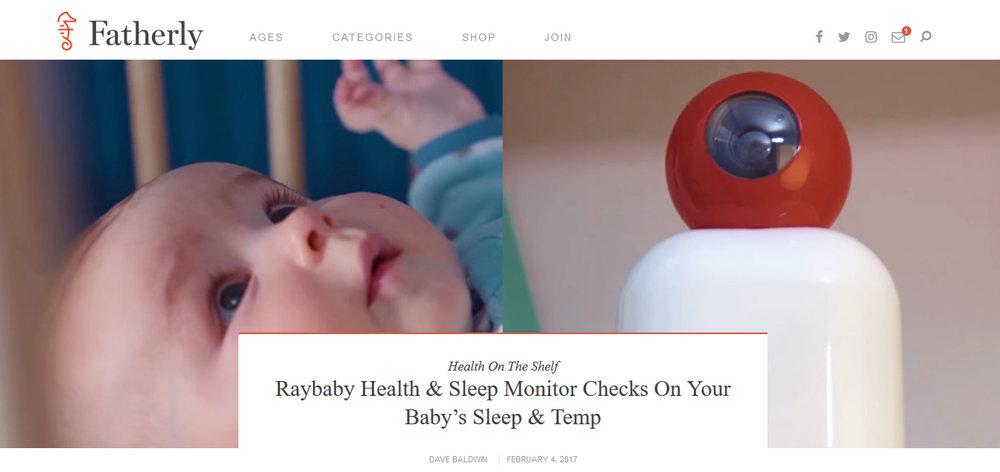 Raybaby Health & Sleep Monitor Checks On Your Baby's Sleep & Temp